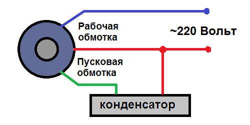 Схема подключения двигателя корморезки